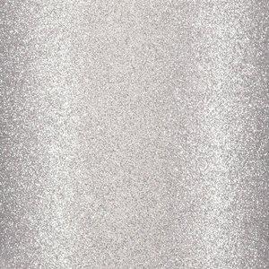 "Cartulina Adhesiva Glitter Fine 12x12"" Light Silver"