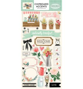 Chipboard Flower Market Iconos