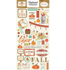 """Chipboard Frases 6x12"""" Fall Market"""