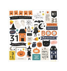 "Chipboard 12""x12"" con purpurina Hey Pumpkin"