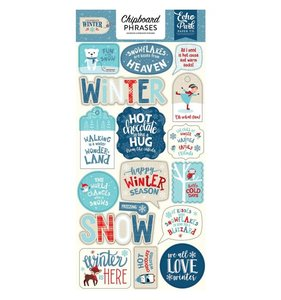 Chipboard Frases Celebrate Winter