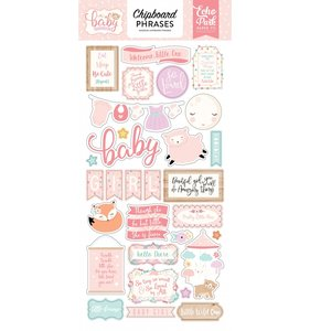Chipboard Hello Baby Girl Frases
