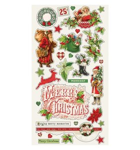 "Chipboard 6x12"" Simple Vintage Christmas"
