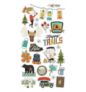 "Chipboard 6x12"" Happy Trails"