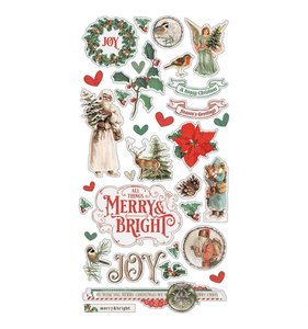 """Chipboard 6x12"""" Simple Vintage Country Christmas"""