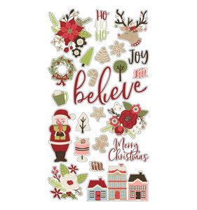 "Chipboard 6x12"" Simple Stories Holly Jolly"
