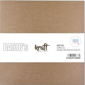 "Portada de cartón Kraft 12x12"" de 2 mm"