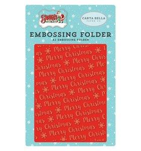 Carpeta de embossing Merry Christmas Snowflakes