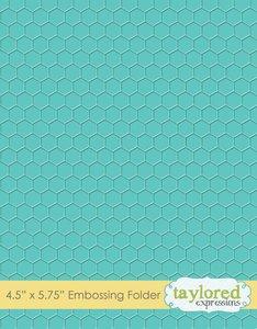 Carpeta de embossing Taylored Expressions Honeycomb