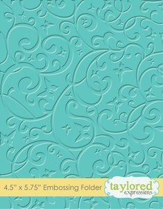Carpeta de embossing Taylored Expressions Butterfly Swirls
