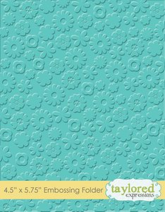 Carpeta de embossing Taylored Expressions Flower Power