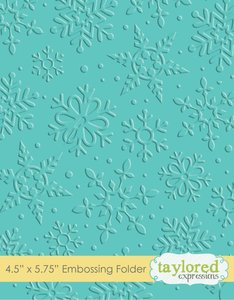 Carpeta de embossing Taylored Expressions Winter Flurry