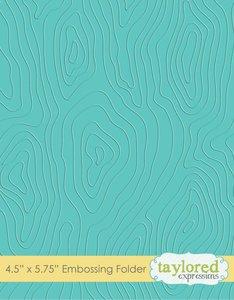Carpeta de embossing Taylored Expressions Woodgrain