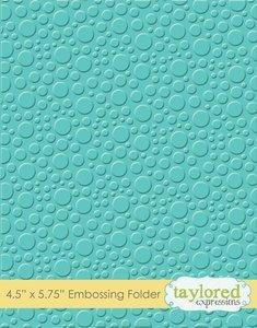 Carpeta de embossing Taylored Expressions Bubbles