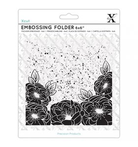 "Carpeta de embossing 6x6"" Full Bloom Roses"