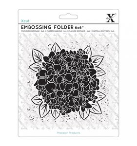 "Carpeta de embossing 6x6"" Full Bloom Hydrangea"
