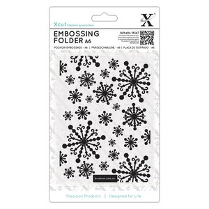 Carpeta de Embossing A6 Xcut Beautiful Snowflakes