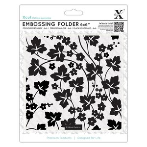 "Carpeta de Embossing 6x6"" Xcut Flowers and Ivy"