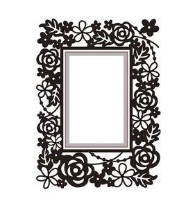 Carpeta de embossing y troquel Rectangle Floral