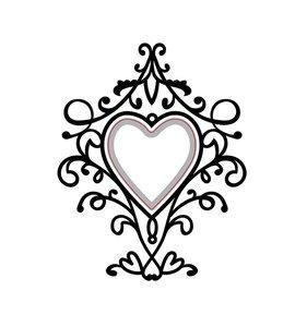 Carpeta de embossing y troquel Heart Swirls