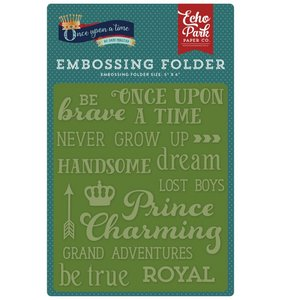 Carpeta de embossing Once Upon a Time Words