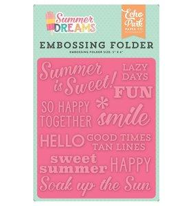 Carpeta de embossing Summer is sweet