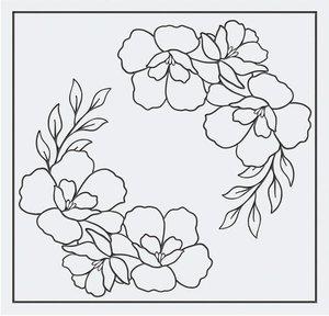 Carpeta embossing Tonic 15x15 cm Beautiful Blossom