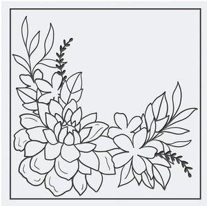 Carpeta embossing Tonic 15x15 cm Flourishing Garden