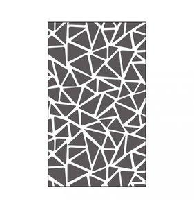 "Carpeta de embossing 3x5"" Triangle Texture"