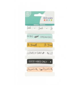 Set cintas con mensaje Good Vibes