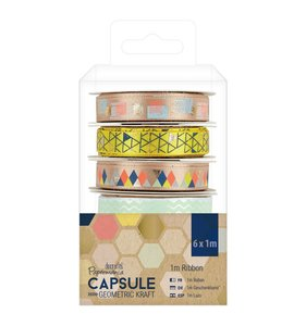Set de cintas Capsule Geometric Kraft