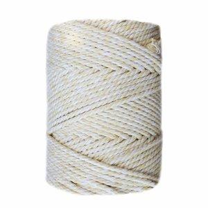Urdimbre Hilo para macramé de algodón Casasol Spray 3 mm Crudo Amarillo