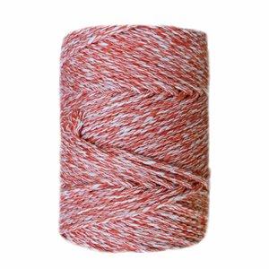 Urdimbre Hilo para macramé de algodón Casasol Spray 3 mm Crudo Naranja