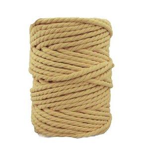 Bobina de cordón para macramé 7 mm 650 gr Amarillo pálido