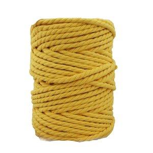 Bobina de cordón para macramé 7 mm 650 gr Amarillo oro