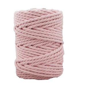 Bobina de cordón para macramé 7 mm 650 gr Rosa bebé
