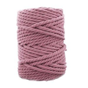 Bobina de cordón para macramé 7 mm 650 gr Malva