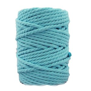 Bobina de cordón para macramé 7 mm 650 gr Verde Esmeralda