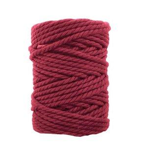 Bobina de cordón para macramé 7 mm 650 gr Rojo