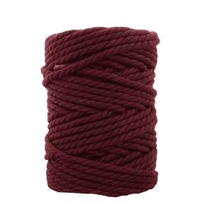 Bobina de cordón para macramé 7 mm 650 gr Granate