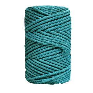 Bobina de cordón para macramé 2 mm 400 gr Azul verdoso