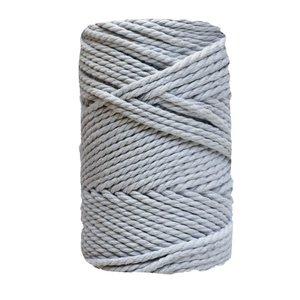 Bobina de cordón para macramé 3 mm 400 gr Gris Plata