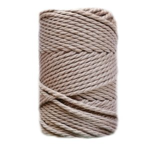 Bobina de cordón para macramé 5 mm 650 gr Arena