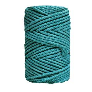 Bobina de cordón para macramé 5 mm 650 gr Azul verdoso