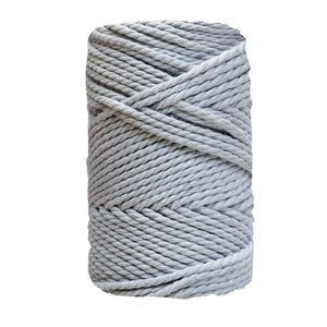 Bobina de cordón para macramé 7 mm 1 kg Gris Plata