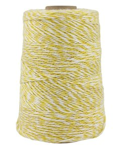 Cono Eco 500 gr Basic Amarillo con blanco