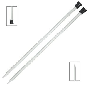 Agujas de punto 30 cm Knitpro Basix Aluminium 6 mm
