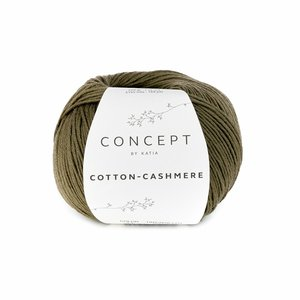 Hilo de algodón Katia Cotton Cashmere Kaki