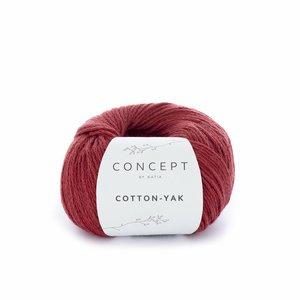 Hilo de algodón Katia Cotton Yak Rojizo