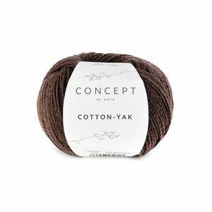 Hilo de algodón Katia Cotton Yak Marrón Oscuro